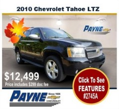 Payne 2010 Chevrolet Tahoe 2745A