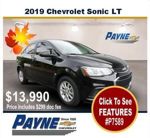 Payne Chevrolet Sonic P7589