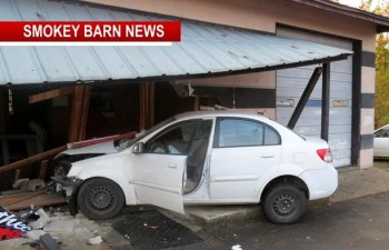 Car Vs Bldg. With 2-Yr-Old Lands Driver In Jail For DUI