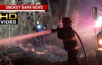 VIDEO: Burning Leaves Spark Woods Fire Overnight, Homes Saved