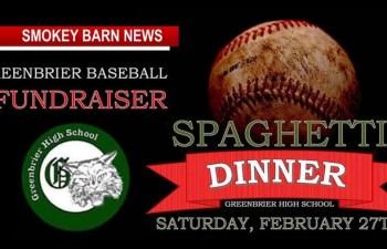 Spaghetti Dinner/Auction Set For Greenbrier Middle & High School Baseball