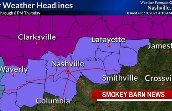 Ice Storm Warning: Robertson Co., TN/KY Border, Advisory For Southern Middle TN Counties