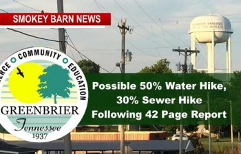 Greenbrier Considers 50% Water Hike, 30% Sewer Hike Following 42 Page Report