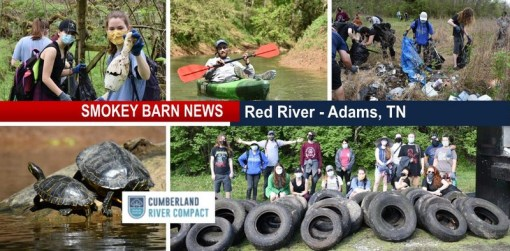 Adams Red River Clean Up Nets Over 2,600 Lbs. Of Trash And Tires
