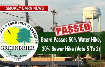 Greenbrier Water/Sewer Hike Passes 5-2 Monday