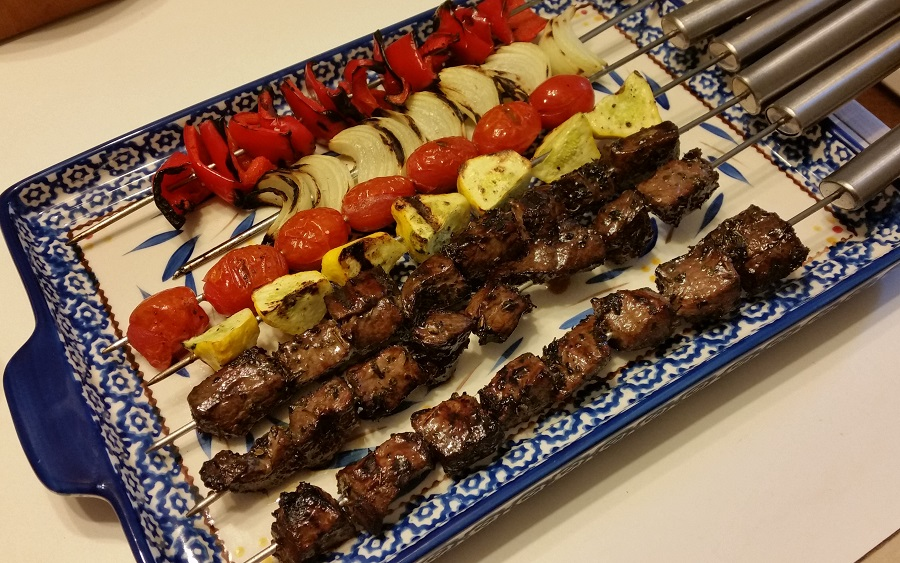 Kebabs off the grill