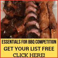 Promo for essentials for bbq competition