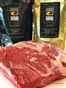 beef ribs with oakridge rubs