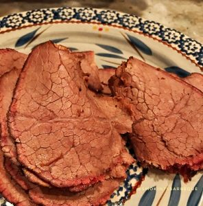 slices of smoked roast beef