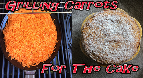 Our Smoked Carrot Cake starts with us grilling our carrots to add a hint of smokey flavor to this vegetable! Then we bake these carrots into a perfect looking cake for Smokey Carrot Cake!