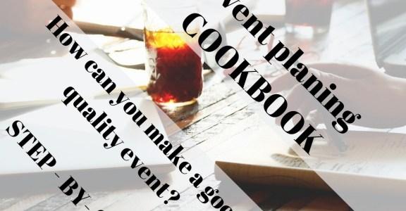 New tool – Event planning COOKBOOK