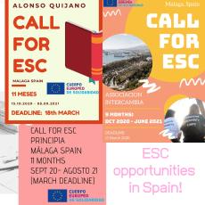 Volunteering vacancies in Spain