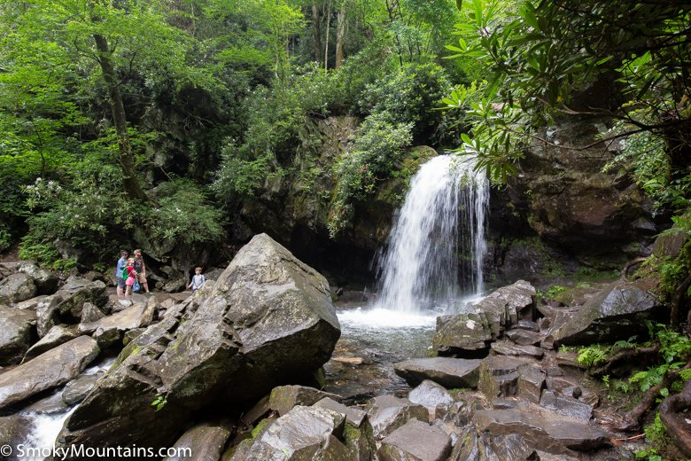 Less than 50 ft further down the trail you'll reach the top of the grotto for schoolhouse falls. Grotto Falls Trail Review With Photos Tips And Information