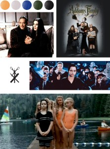 A Halloween Color Palette based on the Addams Family