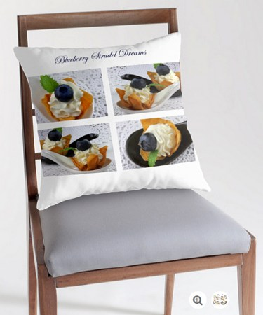 Blueberry Strudel Dreams Pillow © Liz Collet