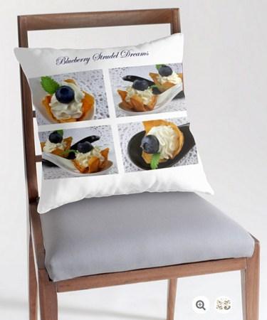 Blueberry Strudel Dreams Pillow © Liz Collet