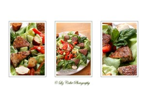 Abgebräunte Milzwurst an Salat mit Brezen © Liz Collet