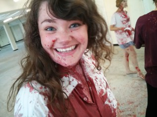 Maddy during Titus Paint rehearsals