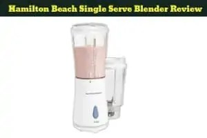 Hamilton Beach Single Serve Blender Review