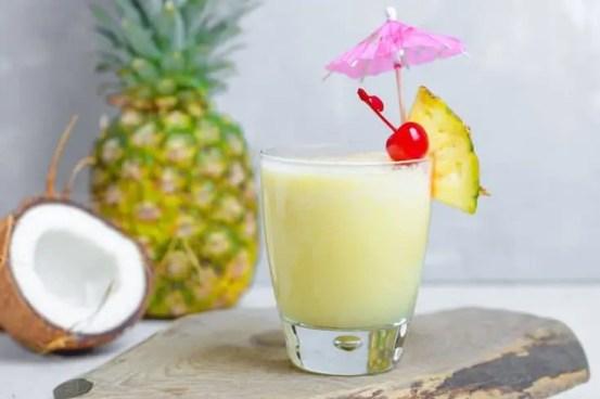 non-alcoholic pina colada smoothie