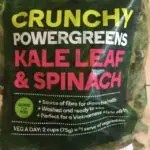 Crunchy powergreens kale and spinach