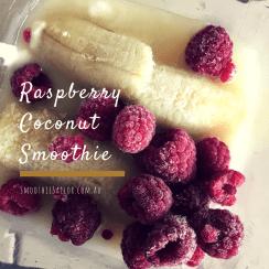 easy healthy Raspberry Coconut Smoothie Recipe