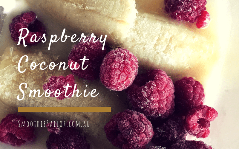 easy healthy Raspberry Coconut Smoothie Recipe