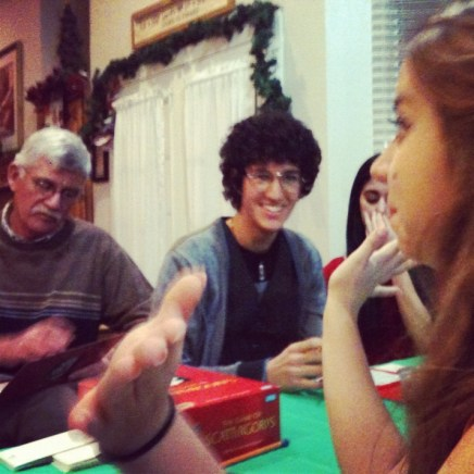 This picture of my family playing Scattergories perfectly sums up Christmas for me. Have I mentioned I love love love love my family? ...I know, but can I say it again?