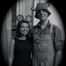 And for Halloween, Devin and I dressed up like city mouse, country mouse!