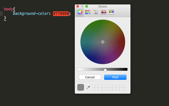 ColorPicker and ColorHighlighter Plugins