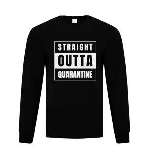"Customizable ""Straight Outta"" Long Sleeve Shirt"