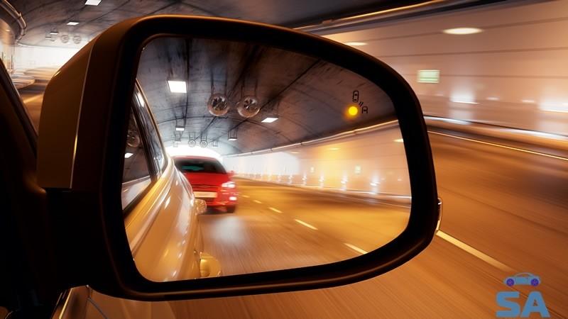 Side rearview mirror.