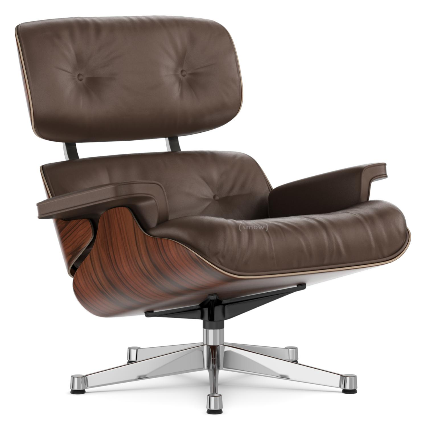 Eanes Chair Vitra Lounge Chair Santos Palisander Brown 84 Cm Original Height 1956 Aluminium Chrome Plated
