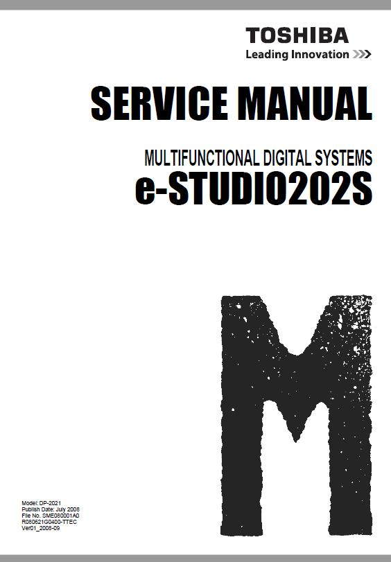Toshiba e-STUDIO 202S Service Manual Download in pdf