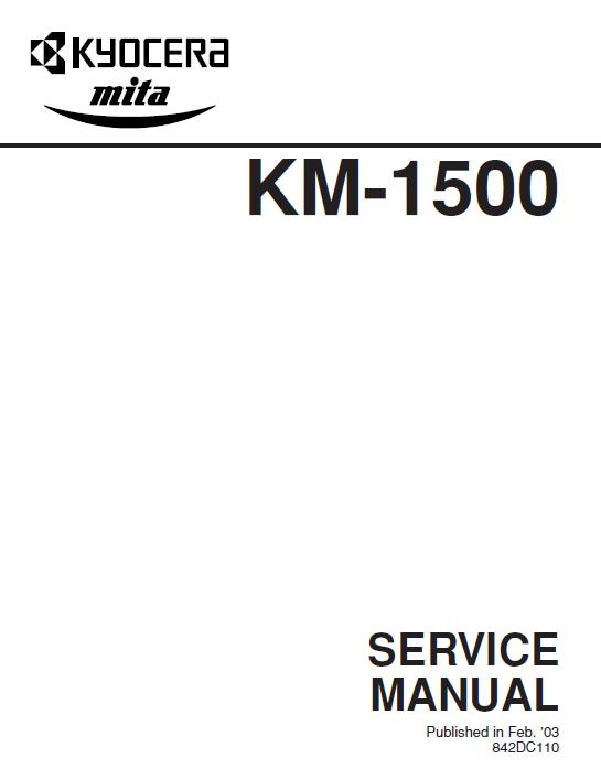Kyocera KM-1500 Service Manual Download in pdf