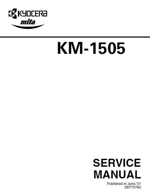 Kyocera KM-1505 Service Manual Download in pdf