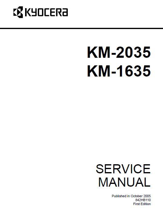Kyocera KM-1635/2035 Service Manual Download in pdf