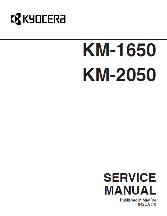 Kyocera KM-1650/2050 Service Manual Download in pdf
