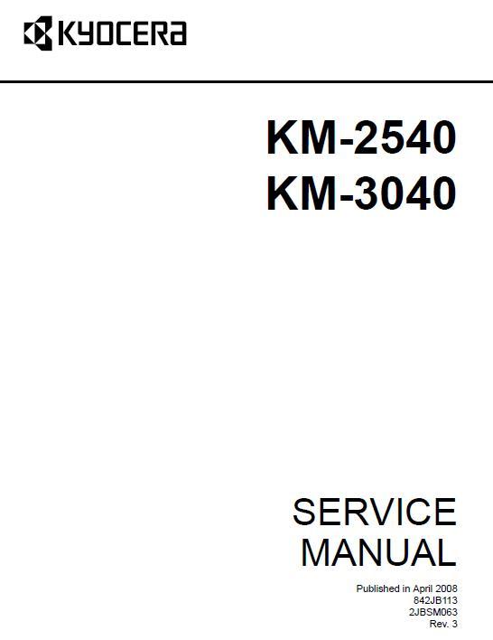 Kyocera KM-2540/KM-3040 Service Manual Download in pdf