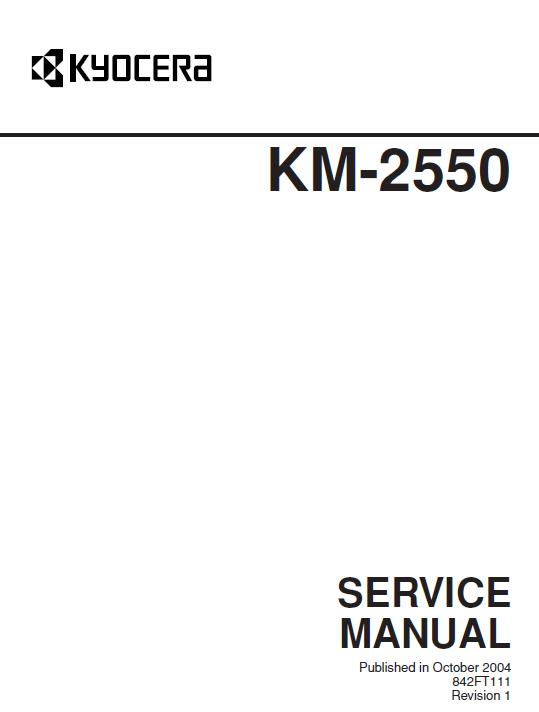 Kyocera KM-2550 Service Manual Download in pdf