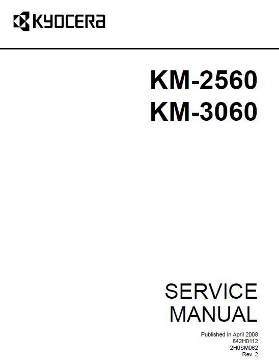 Kyocera KM-2560/KM-3060 Service Manual Download in pdf