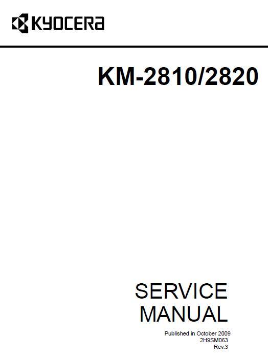 Kyocera KM-2810/KM-2820 Service Manual Download in pdf
