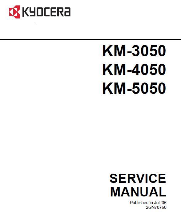 Kyocera KM-3050/KM-4050/KM-5050 Service Manual Download in pdf