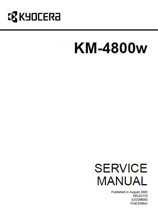 Kyocera KM-4800w Service Manual Download in pdf