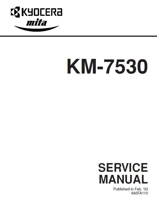 Kyocera KM-7530 Service Manual Download in pdf