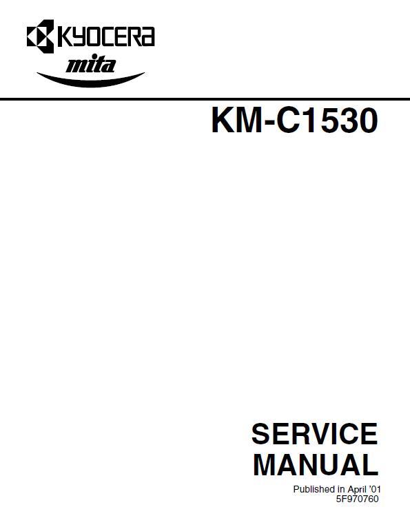 Kyocera KM-C1530 Service Manual Download in pdf
