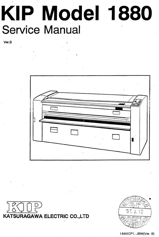 KIP 1880 Service Manual :: KIP Printers, Plotters