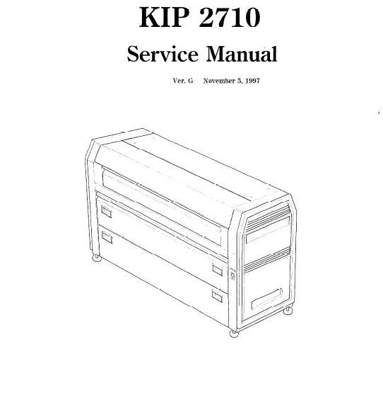 KIP 2710 Service Manual :: KIP Printers, Plotters