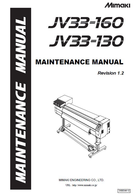Mimaki JV33-130/Mimaki JV33-160 Service Manual :: MIMAKI