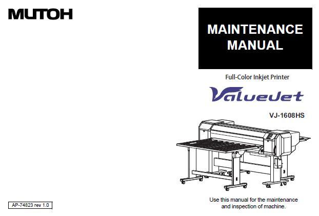 Mutoh VJ-1608HS Service Manual :: Mutoh Printers